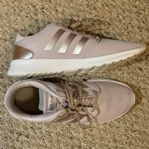 Women's rose gold Adidas sneakers